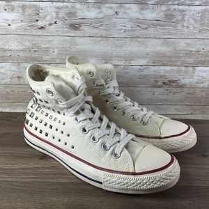 Converse Chuck Taylor High Top White Embellished